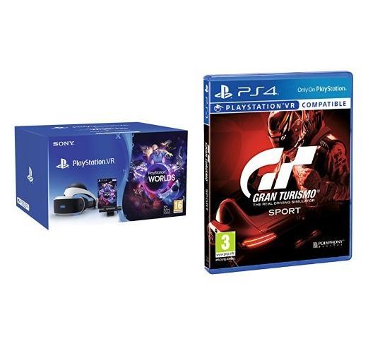 Amazon.it: PlayStation VR (neue Version) + Camera + VR Worlds Voucher + Gran Turismo Sport um 233,67€