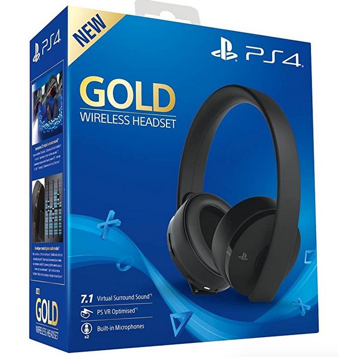 Amazon.it: Sony PlayStation 4 Gold Wireless Headset um 64,94€ - neuer Bestpreis