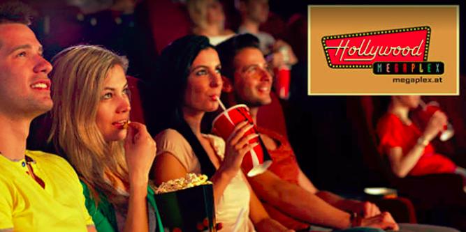 Hollywood Megaplex-Kinos: Kino Tickets, Snacks und Getränke für 2 Personen