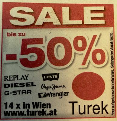 Turek: bis zu -50% Rabatt