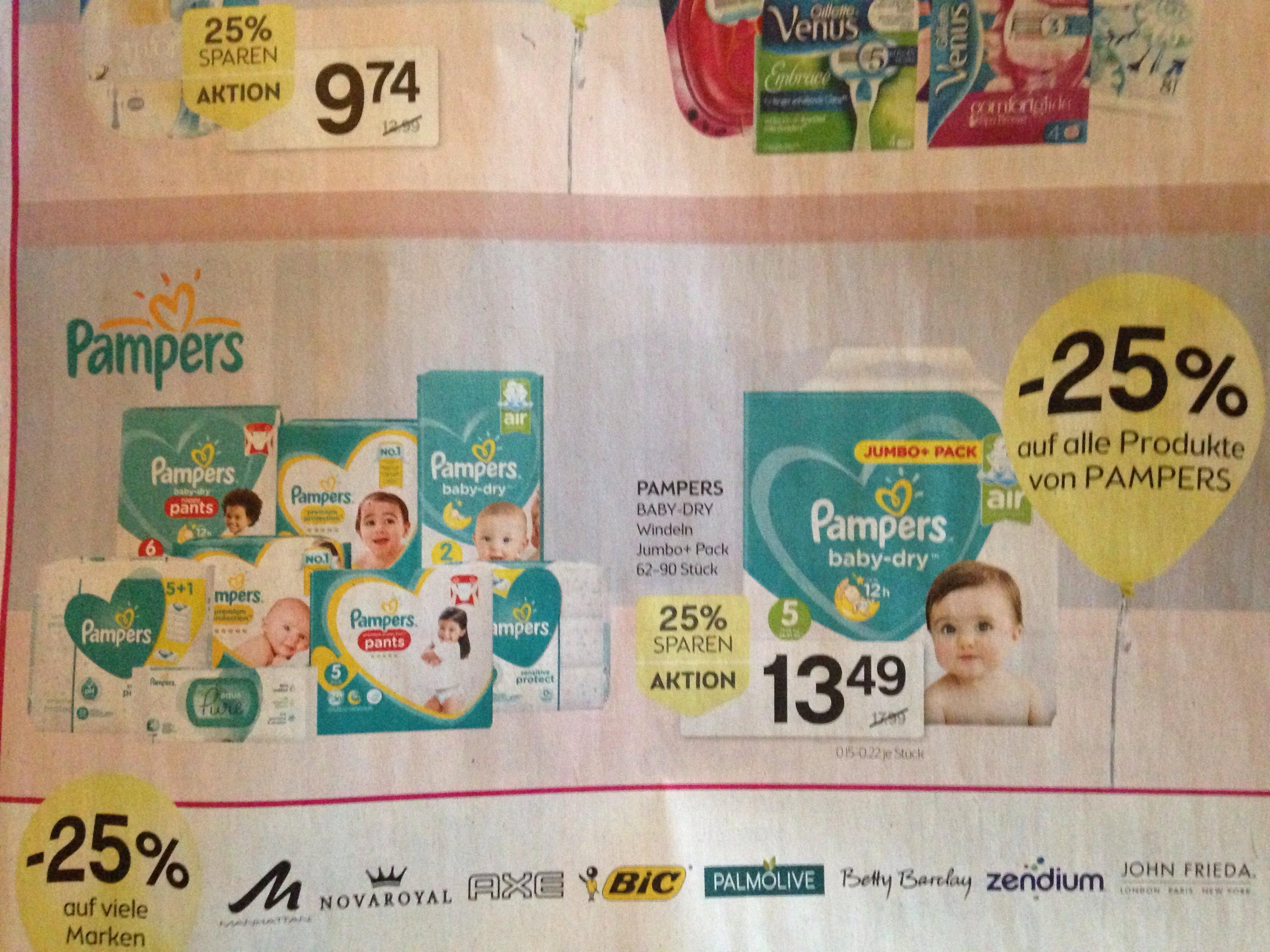 [Bipa] -25% auf alle Pampers Produkte