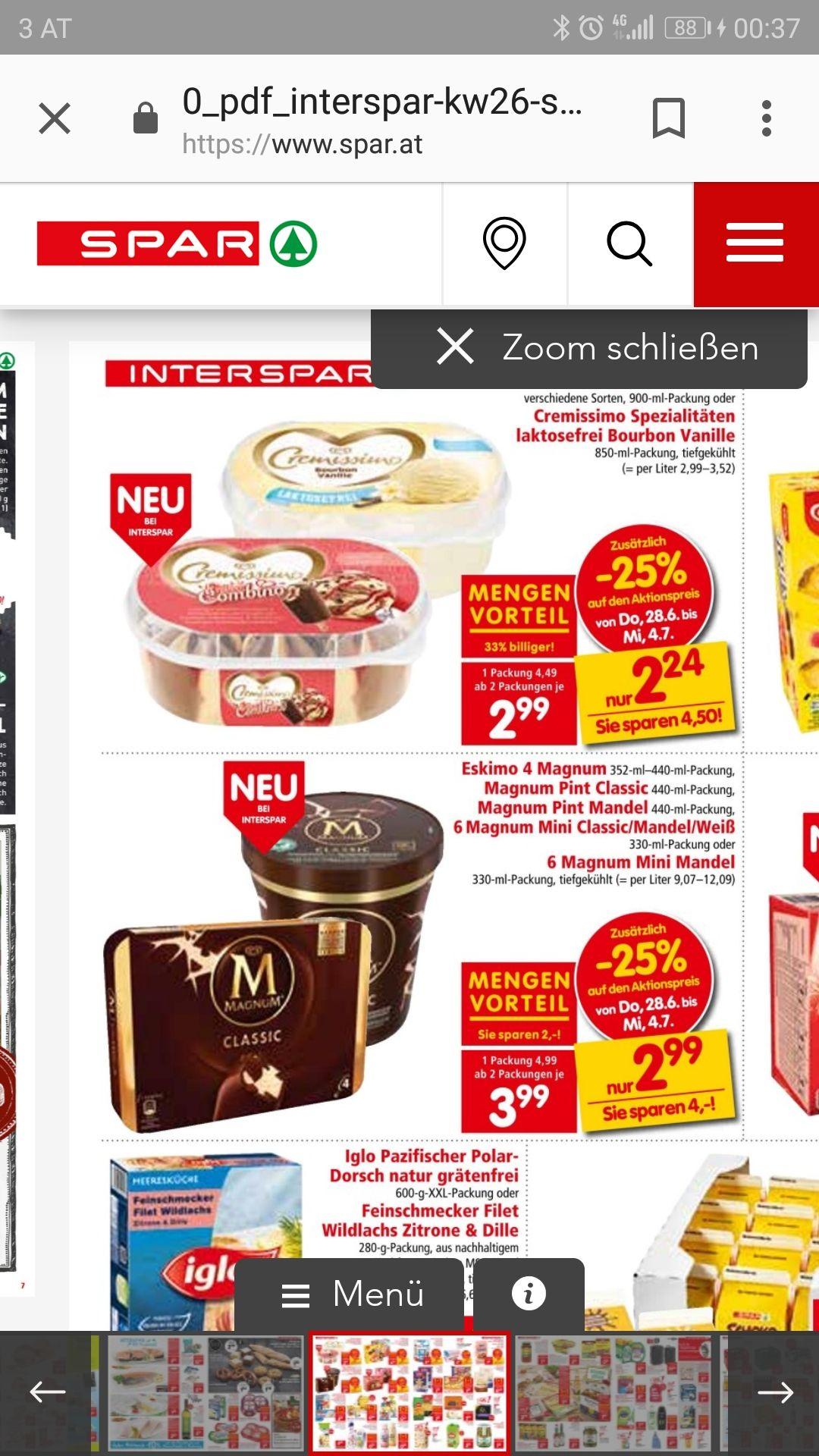 Eskimo verschiedene Eissorten 1+1 gratis!