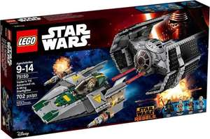 Amazon.es: LEGO Vader's TIE Advanced vs. A-Wing Starfighter, vorbestellen um 55,64€