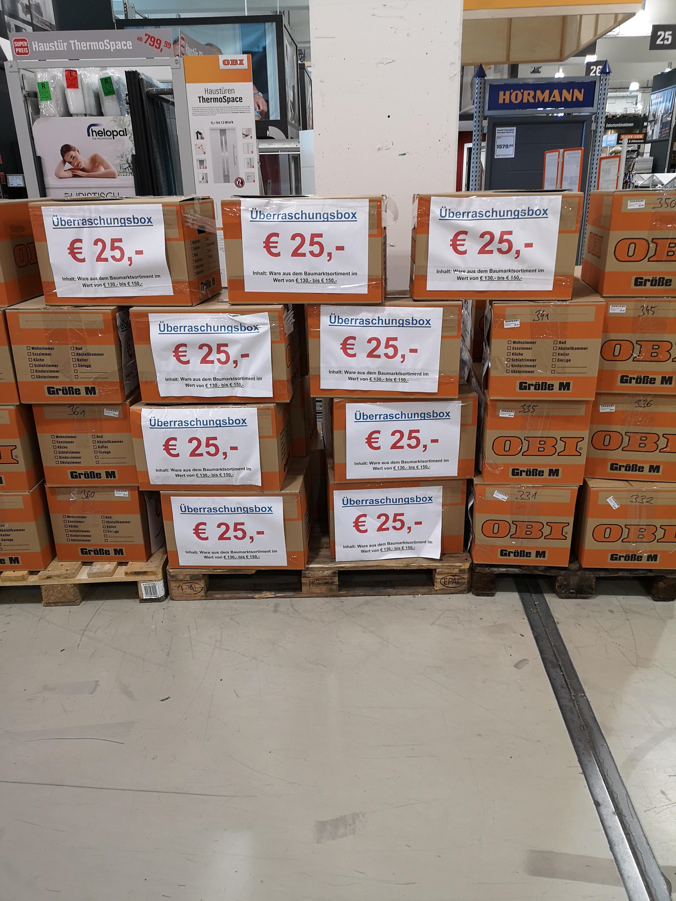 25€ Überraschungsbox im Wert bis zu 150€