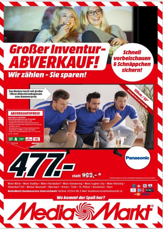 Panasonic 55 Zoll 4K Mediamarkt Inventur ABV