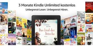 Amazon - Kindle Unlimited  - 3 Monate Gratis