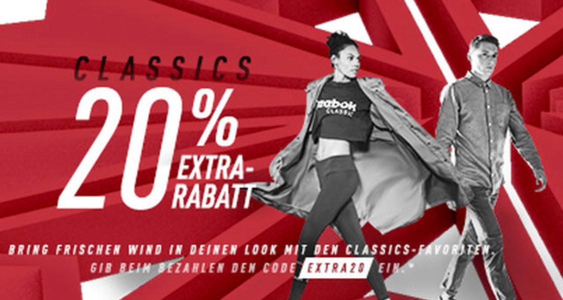 Reebok: 20% Extra Rabatt auf den Sale (jede Woche wechselnd!)