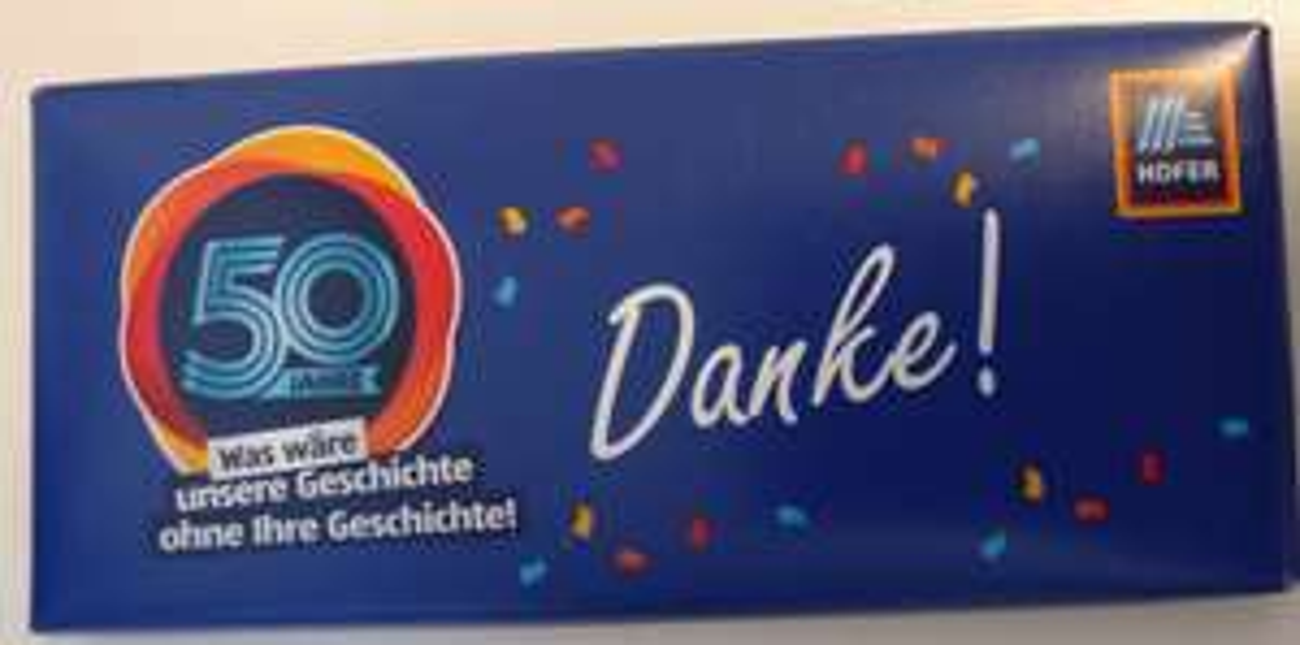 Gratis Schokolade bei Hofer-Einkauf (evtl. nur lokal)