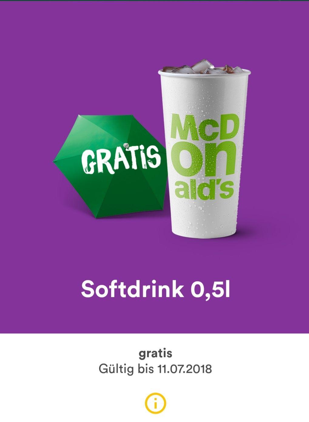 MyMcdonald's App 0,5L Softdrink gratis