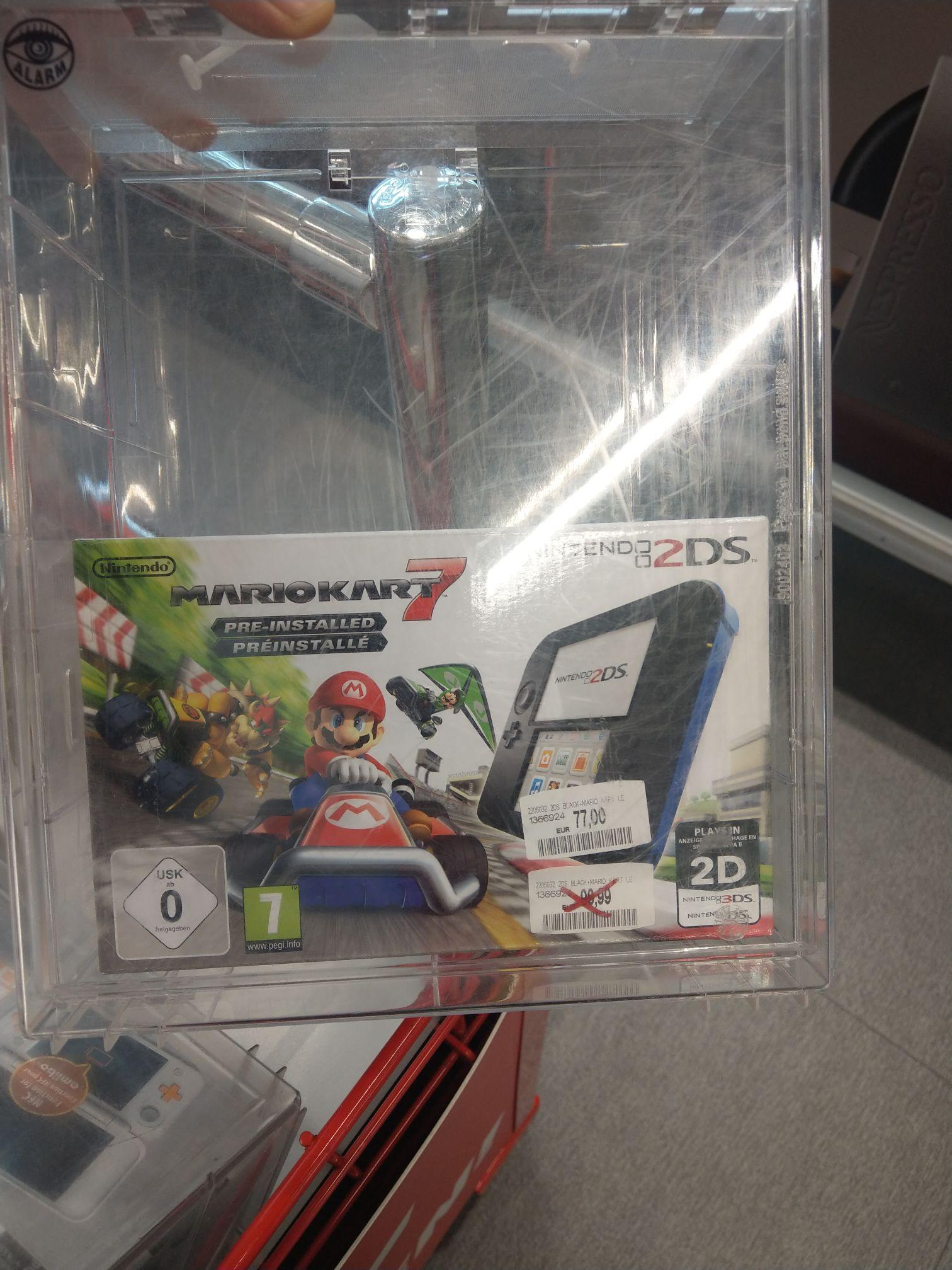 (Lokal) Nintendo 2DS Konsole + Mario Kart 7 (vorinstalliert ), schwarz
