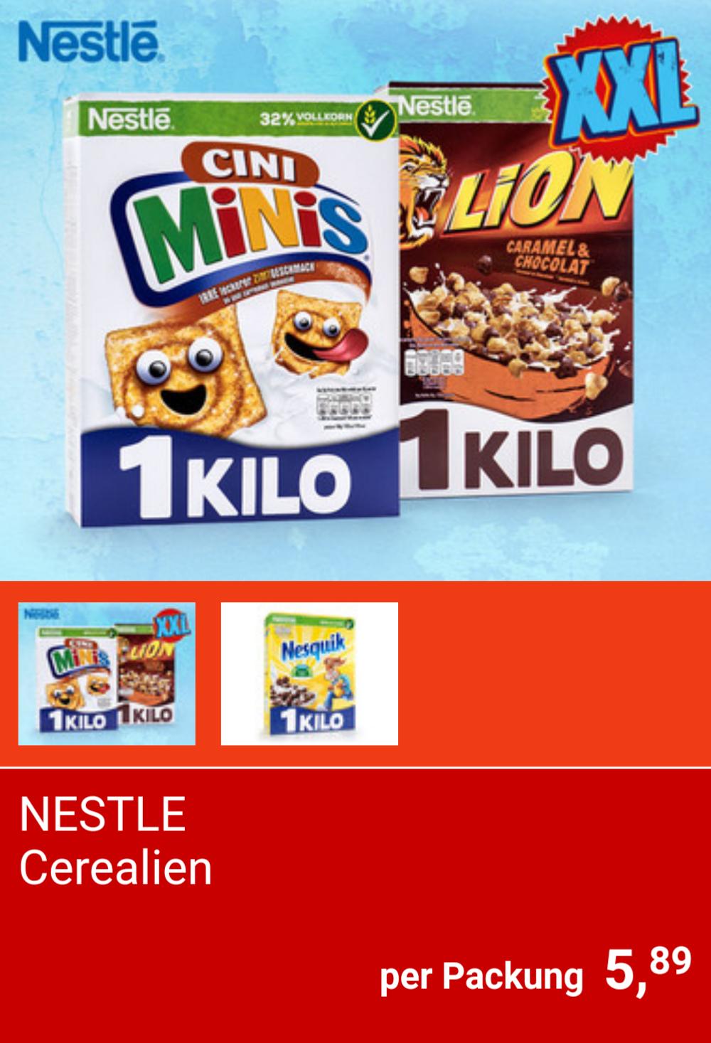 [Hofer] Nestlé Cerealien Cini Minis, Lion und Nesquik