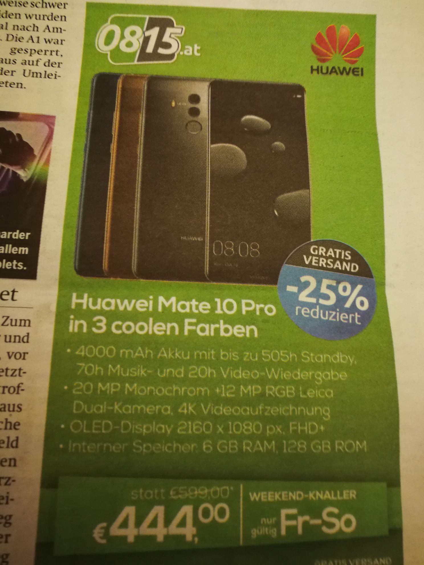 Huawei Mate 10 pro um 444€