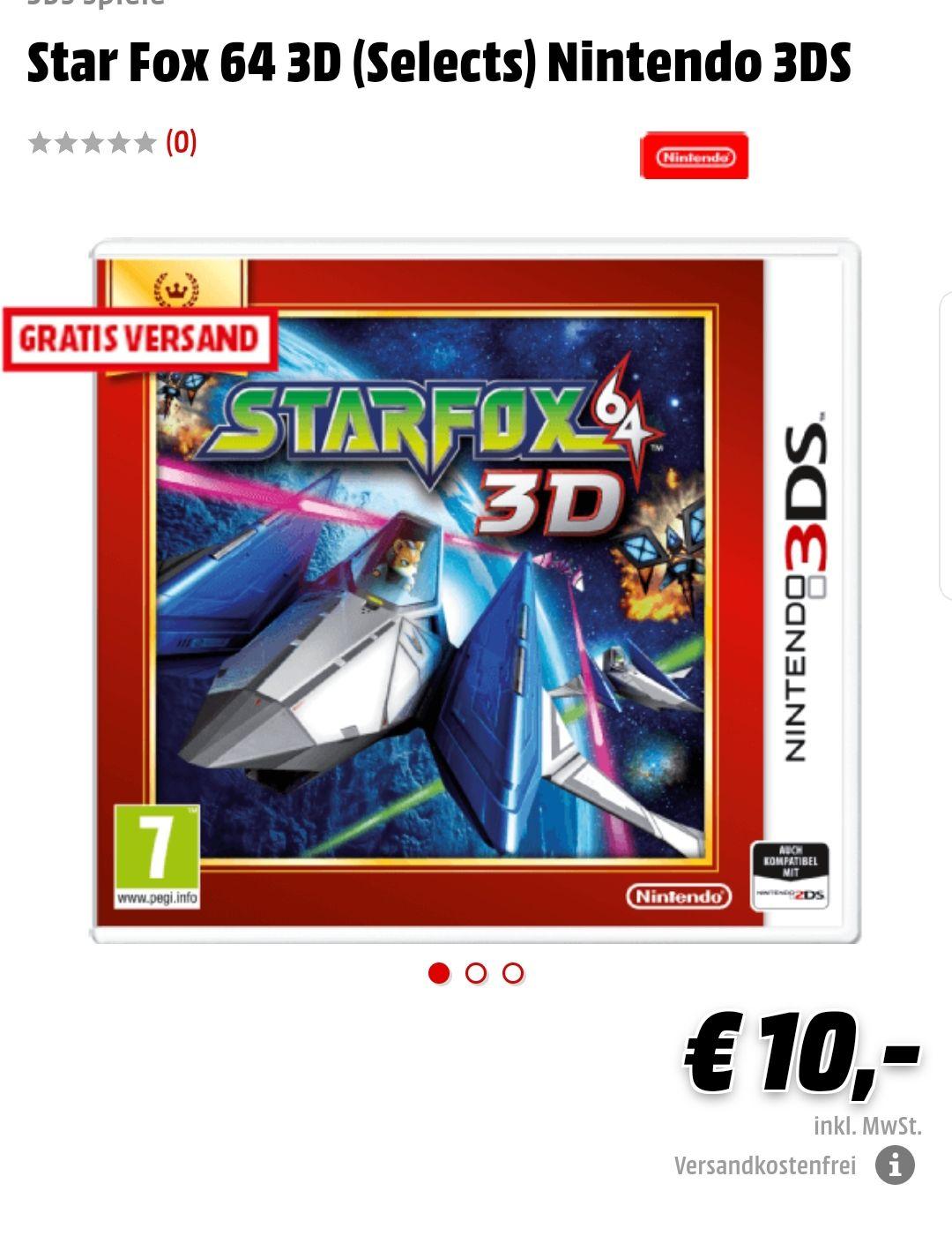 [Mediamarkt.at] [N3DS] Starfox 3D um €10