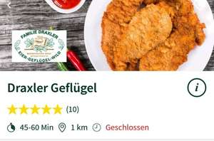 MJAM 6€ Rabatt auf eine Bestellung bei Draxler Geflügel in Graz