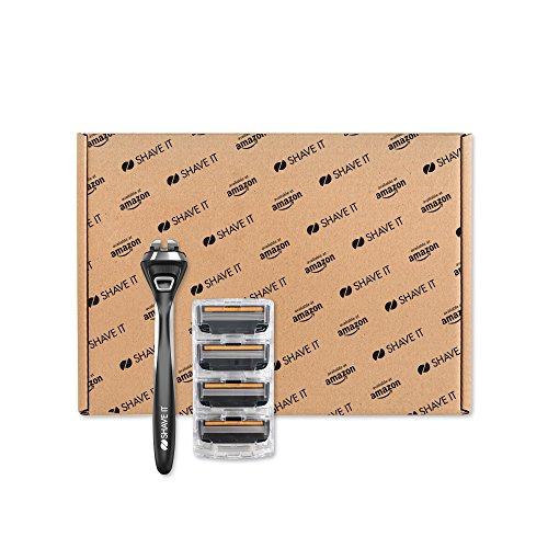 "Amazon Exklusiv - ""Shave It Pro"": 5-Klingen-Rasierer (Griff + 4 Klingen)"