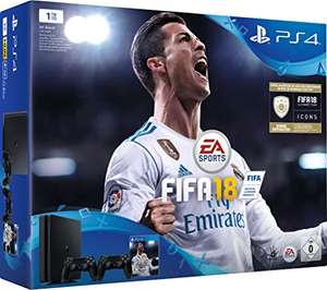 Amazon.de: Sony PlayStation 4, 1TB inkl. 2 Controller + FIFA 18 um 279,99€