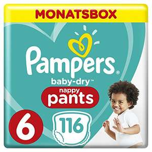 116x Pampers Baby Dry Pants (Gr.6, Extra Large, 15+kg)