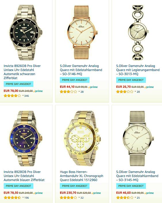 Amazon: Uhren von s.Oliver, Braun, Hugo Boss uvm. bis zu 50% reduziert