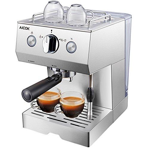 Aicok Kaffeemaschine Edelstahl