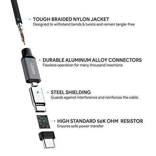 [Amazon.de Blitzangebot]: AUKEY USB C Kabel auf USB A 3.0 (3 x 1m)