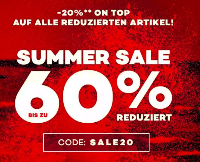 -60 SALE & -20% EXTRA auf alle bereits reduzierten Artikel