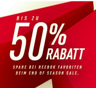Reebok - Letzte Chance: EXTRA20 auf den gesamten Sale