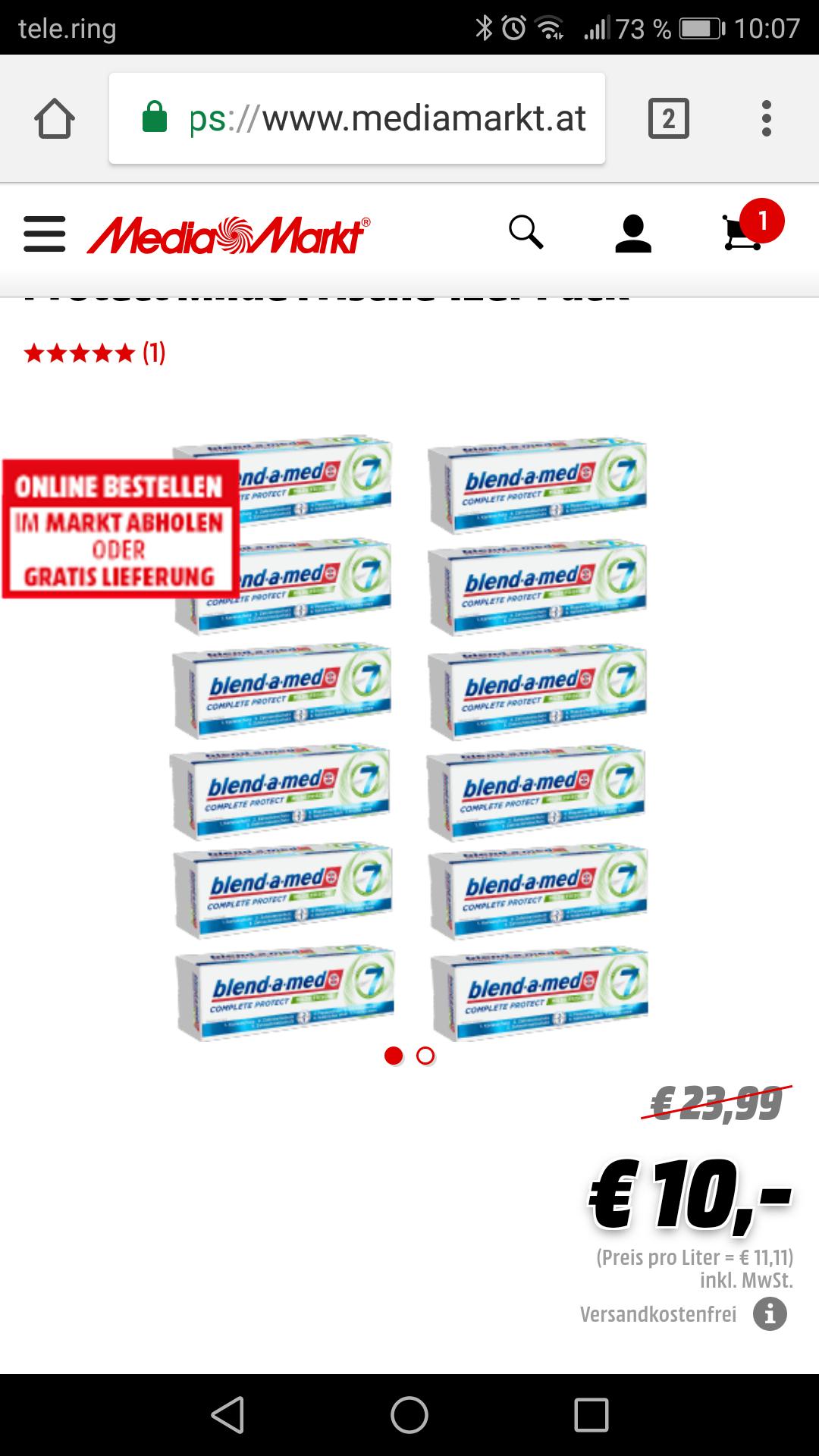 12er Packung BLEND-A-MED Zahncreme