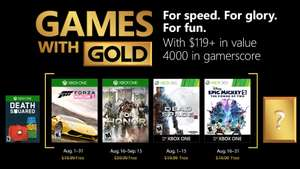 (Games with Gold August) Forza Horizon 2 (Xbox One), For Honor (Xbox One), Dead Space 3 (Xbox One/Xbox 360), Disney Epic Mickey 2: The Power of Two (Xbox One/Xbox 360)
