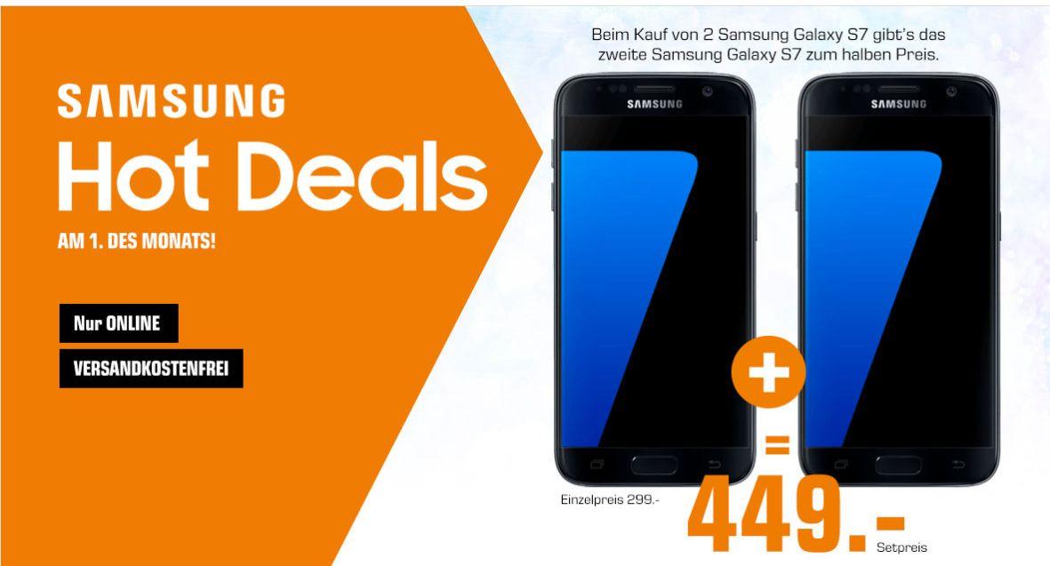 [Saturn] Zwei Samsung Galaxy S7 im Bundle um €449