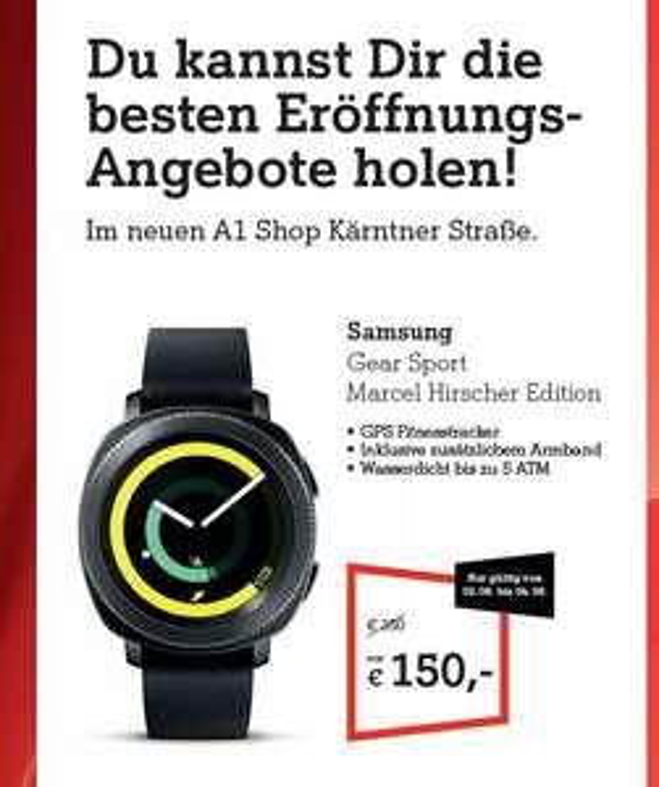 Samsung Gear Sport Marcel Hirscher / A1 Shop Kärntnerstrasse 1. Bezirk