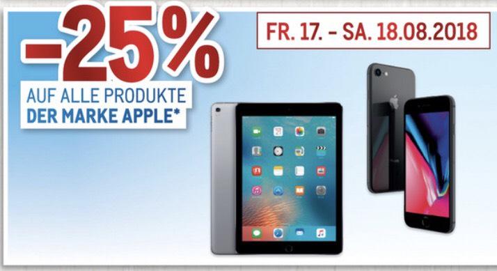 -25% auf alle APPLE Produkte!!!