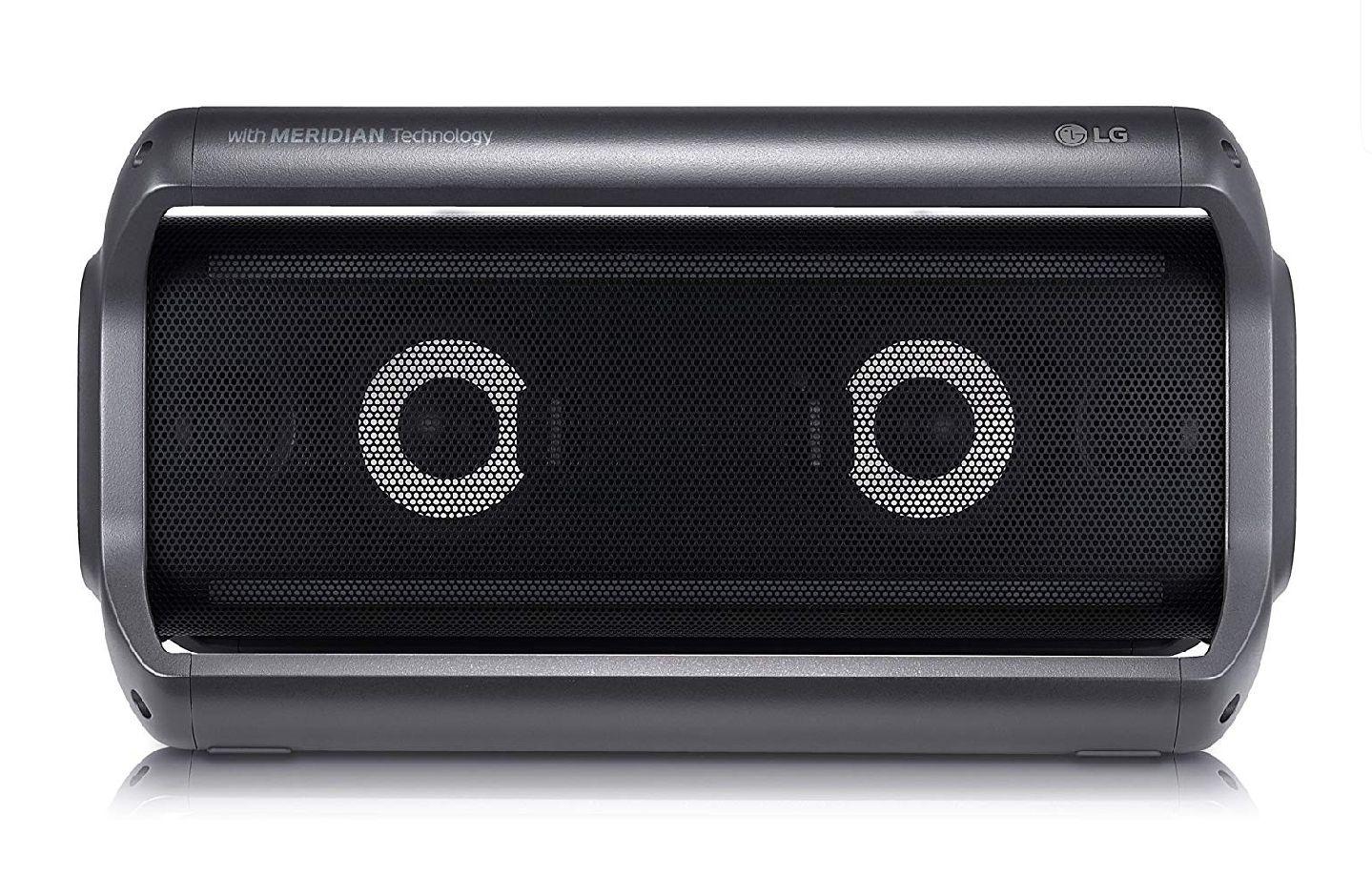 LG PK7 Outdoor Bluetooth Lautsprecher mit Meridian Technologie Schwarz für 99,83€