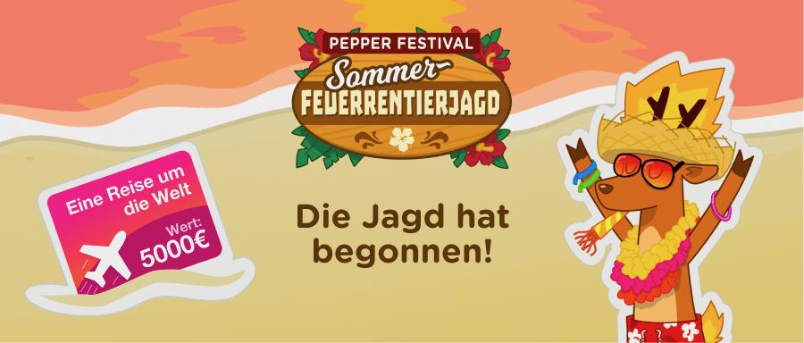 Pepper Festival 2018 - Sommer Feuer-Rentierjagd - Gewinnspiel