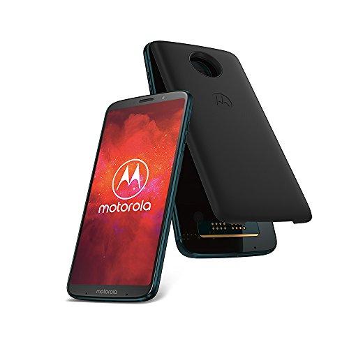 Motorola Moto z3 Play Smartphone Bundle (6 Zoll) + Moto Power Pack + Moto Style Shell – Black Leather für 399€