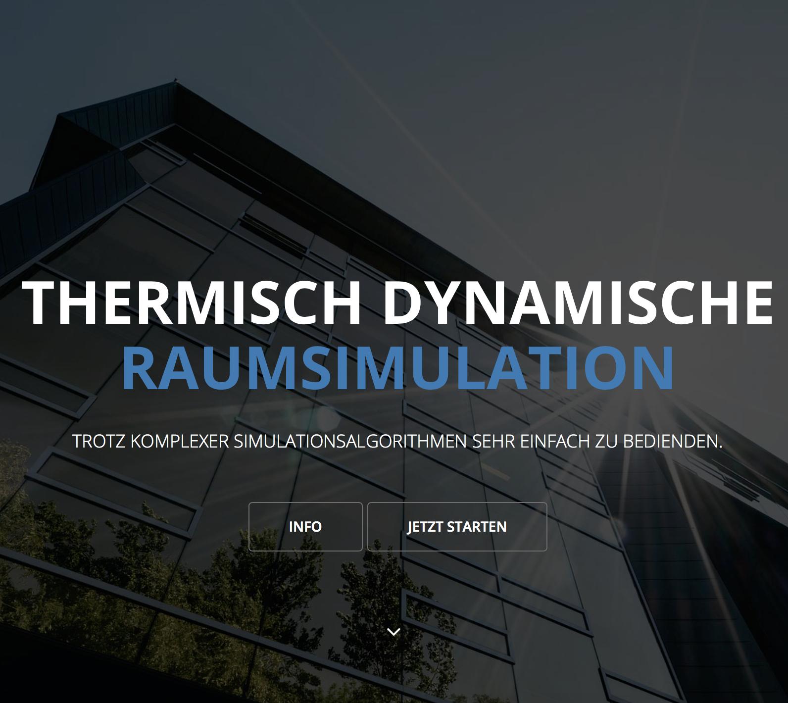 """TheSim3D"" - GRATIS Simulationstool zur Berechnung der operativen Raum-Temperatur"