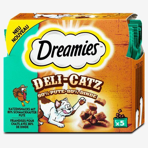 zum Welt-Katzentag: Dreamies Deli-Catz Katzensnack (dm)