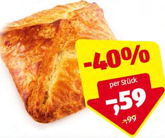 Butter Topfengolatsche statt 0,99€ um nur 59 CENT beim (Hofer 13.08.)