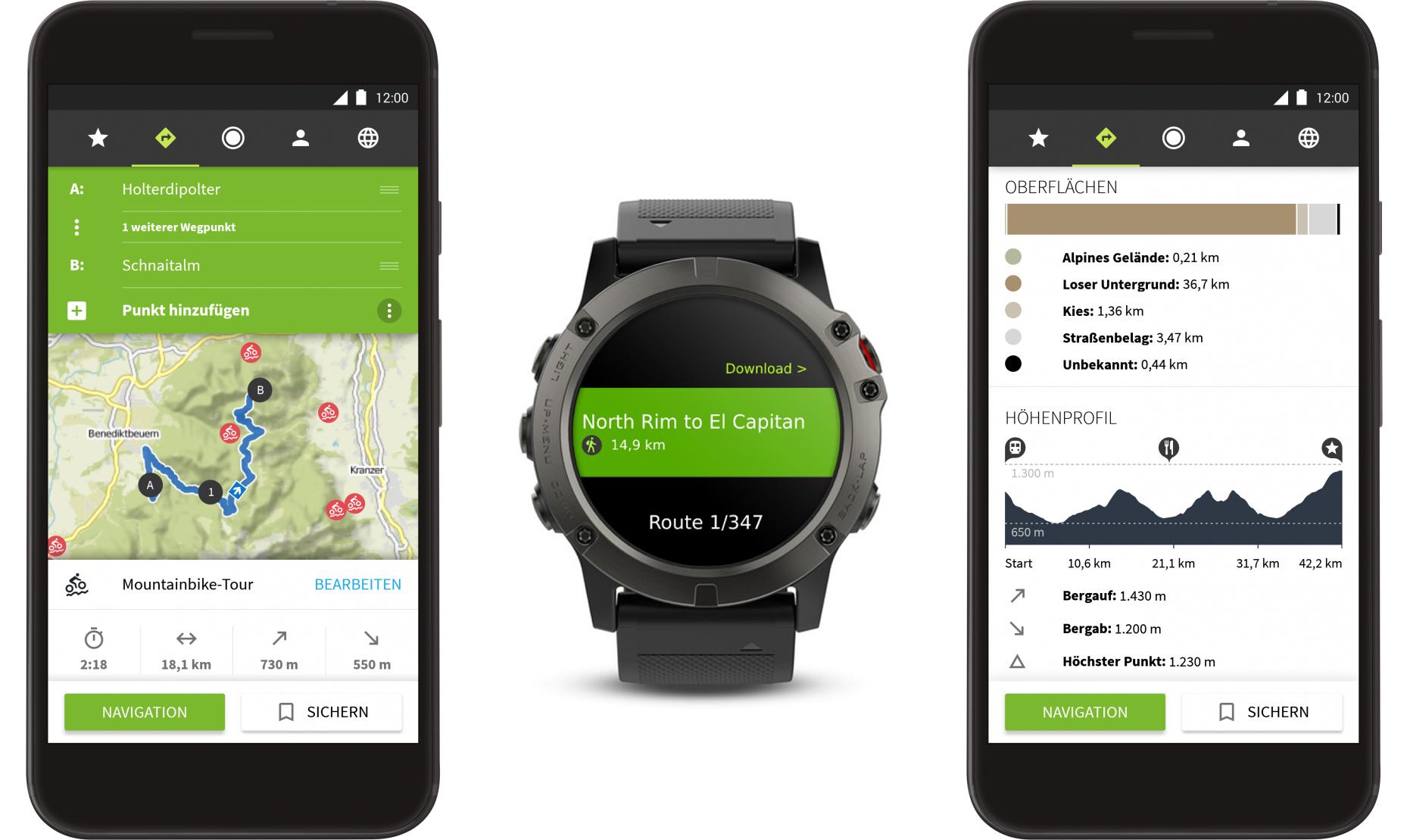 Komoot App - Komplett-Paket für die ganze Welt am Smartphone