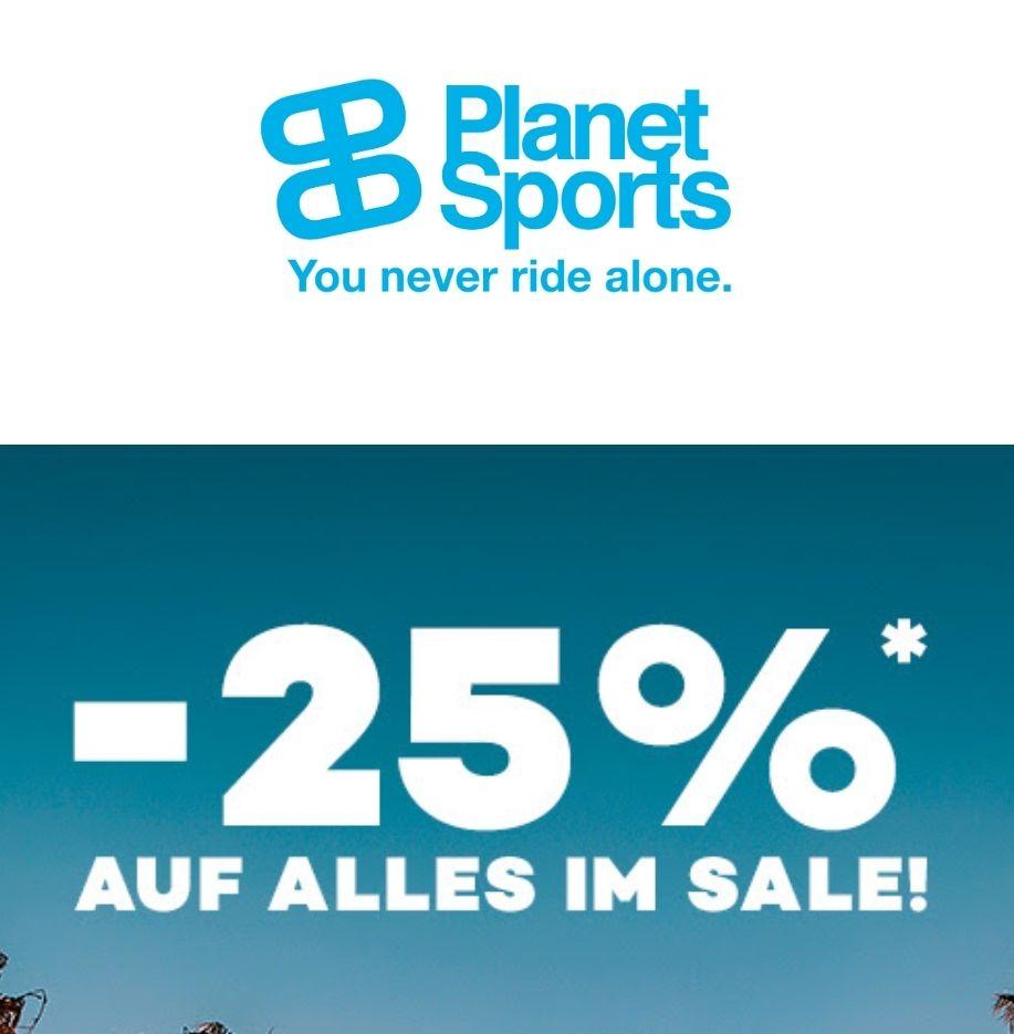 -25% auf alles im Sale bei Planet Sports