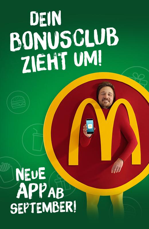 Info: my McDonalds APP Bonusclub wird durch neue App ersetzt - Klassiker nach Wahl für nur 1€
