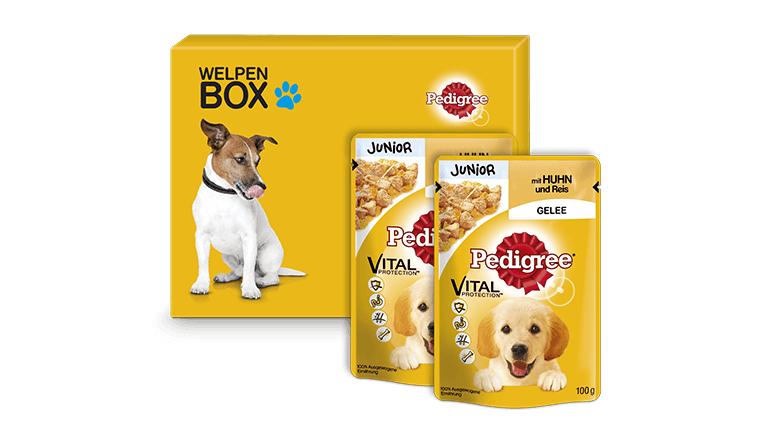 GRATIS Pedigree Welpen-Box