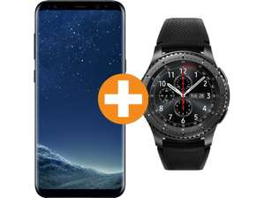 [SATURN] SAMSUNG Galaxy S8+ Midnight Black mit Smartwatch Gear S3 Frontier Black