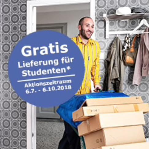 IKEA - Gratis Lieferung für Studenten und alle dies noch werden wollen ab WW von €1.500