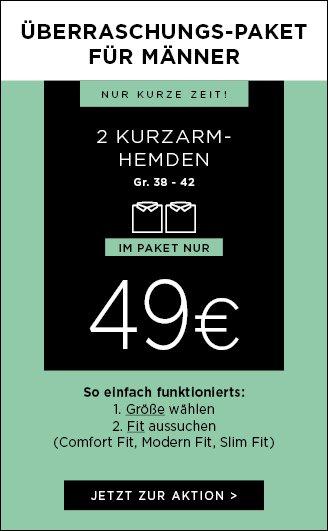 Eterna Überraschungspaket- 2 Kurzarmhemden für 49€ (Grösse 38-42)