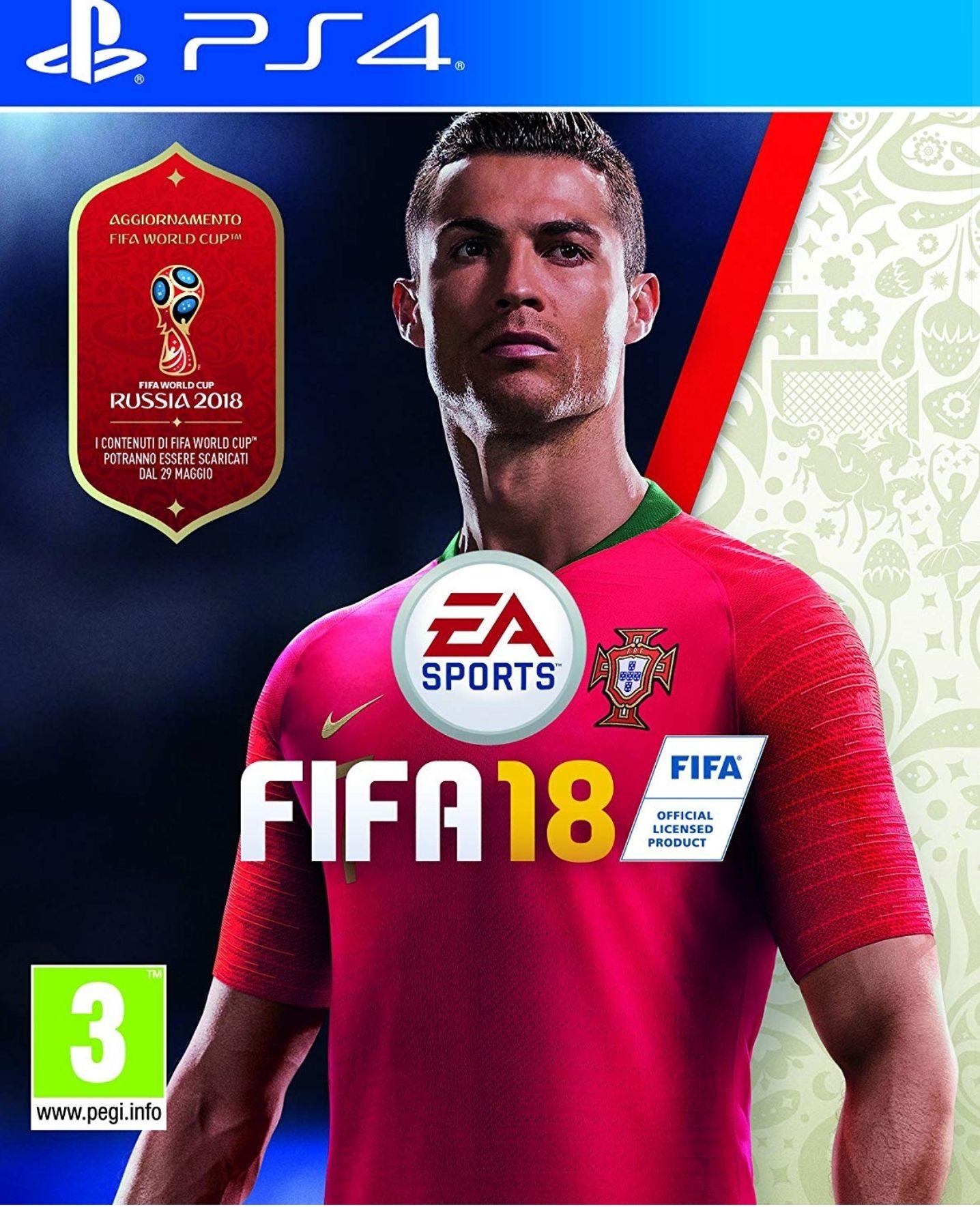 Fifa 18 (Ps4) für 14,76€ bei Amazon.it