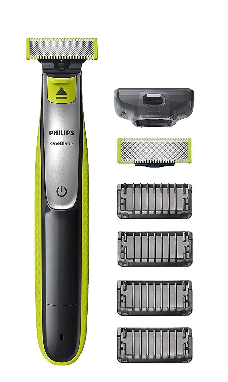 Philips OneBlade Hybrid-Styler QP2530/30, mit 1 Ersatzklinge und 4 Trimmeraufsätzen, 4 Längeneinstellungen für 29,24€