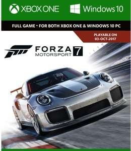 Forza Motorsport 7: Play Anywehere Edition| Xbox One/Windows 10 - Download Code für 16.72