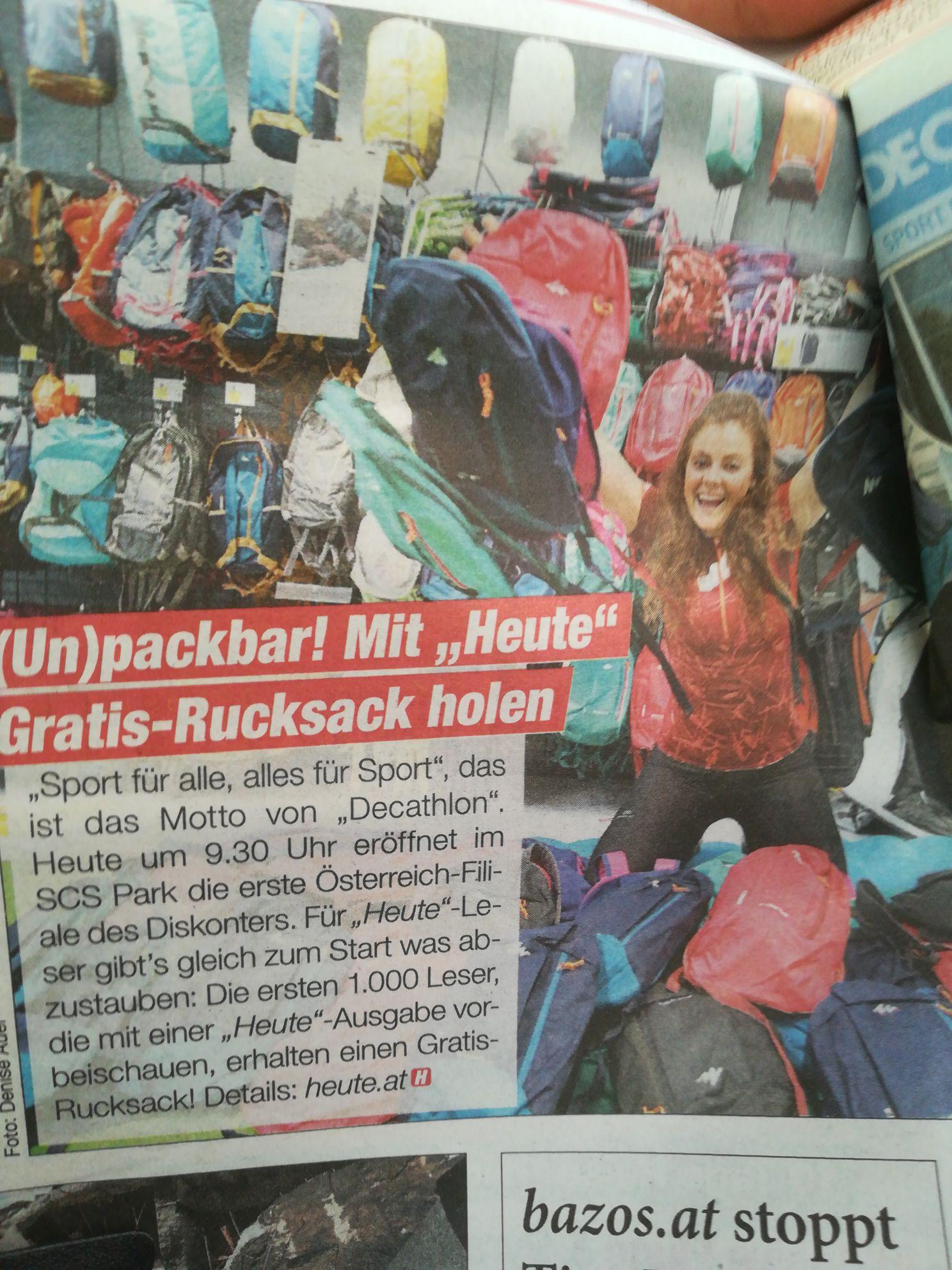 Gratis Rucksack von DECATHLON I'M SCS