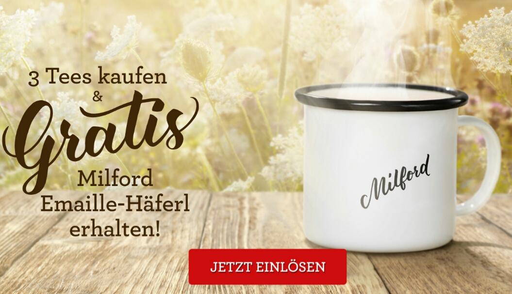 GRATIS Emaill-Häferl beim Kauf von 3 Milford Tees