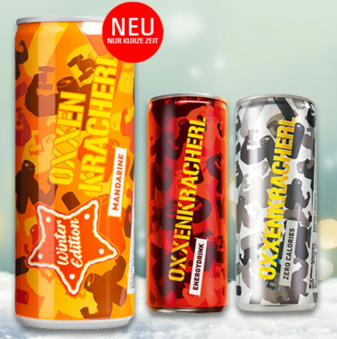 PENNY Oxxenkracherl Energy Drink um nur 0,25€ ab 4 Stück (Neue Sorte: Mandarine)